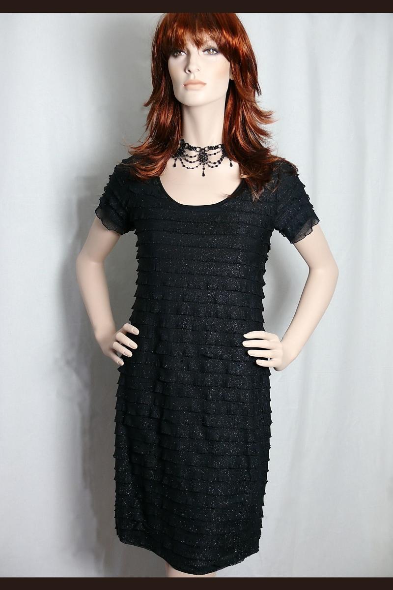 das kleine schwarze kleid kurz glitzer glamour schwarz gr l. Black Bedroom Furniture Sets. Home Design Ideas